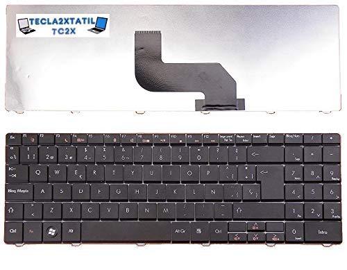 Teclado ESPAÑOL para PORTATIL Packard Bell EasyNote TJ66-BT-220 Nuevo Negro