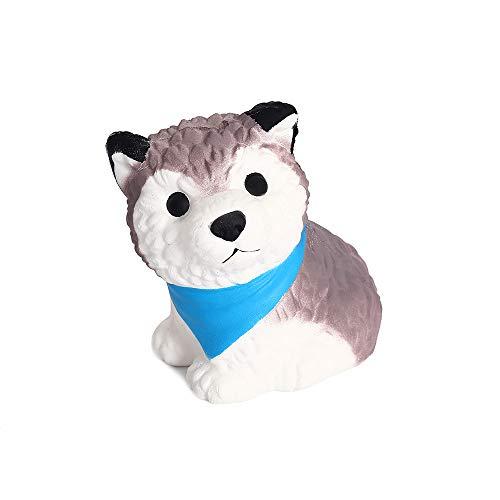 Anboor Squishies Hund Welpe Steigend Quetschen Spielzeug Süß Tiere Slow Rising Antistress Squishies Spielzeug Geschenk für Kinder Erwachsene(11*9*10.5cm,1 Stück) (Hund Spielzeug Denken)