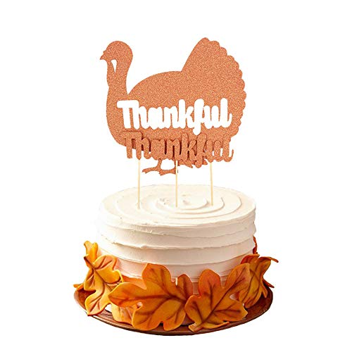 Lifemaison Thankful Brief Türkei Glitter Kuchen Deckel Kuchen Auswahl für Halloween Thanksgiving Partei Dekoration 1set Home dekor