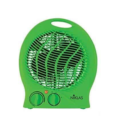 Fraschetti 539024 - Calefactor (Calentador de ventilador, Interior, Escritorio, Piso, Mesa, Verde, Giratorio, 2000 W)
