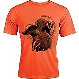 Photo de [Texte Personnalisable] t Shirt Sport de Chasse avec Blaireau par Pets-easy