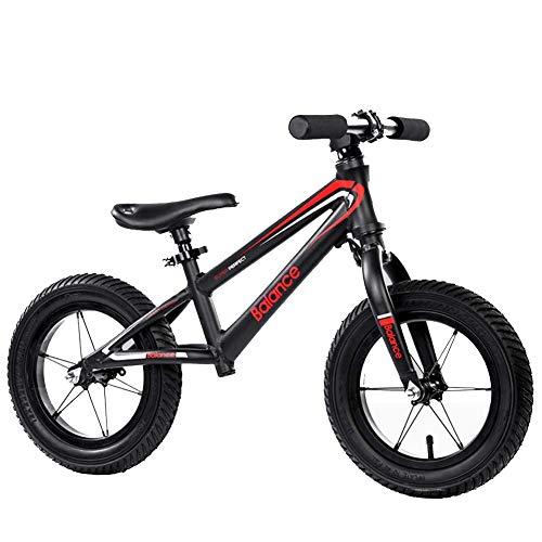 Hejok Laufrad Ab 2 Jahre Junge, Balance Fahrrad Kinder Balance Auto GroßHandel Benutzerdefinierte Pedalless Kinder Roller 12-Zoll-Fahrrad, Black