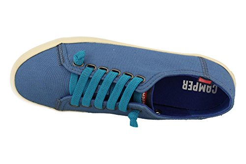 Camper Borne, Sneakers Basses Femme Bleu (Medium Blue 008)