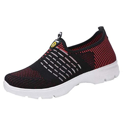 S&H NEEDRA Frauen Mesh Casual Loafers Breathable Slip-on Schuhe Weiche Laufschuhe TurnschuheDamen Go Walk Lite Sneaker, Grau