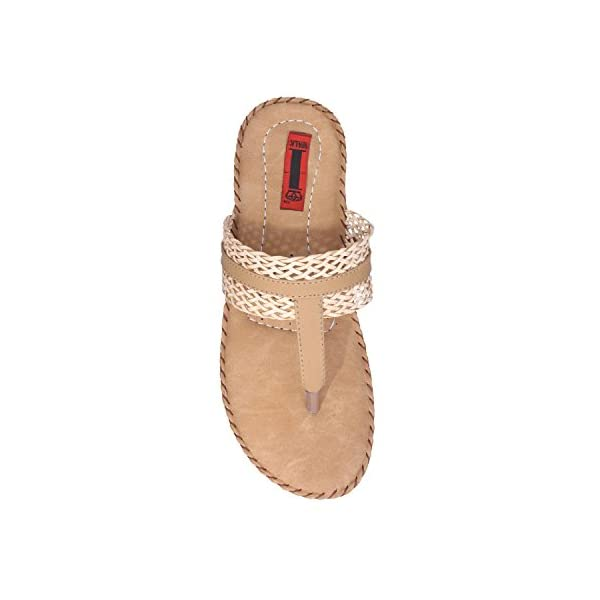1 WALK COMFORTABLE DOCTOR SOLE WOMEN-FLATS/SANDALS/FANCY WEAR/PARTY WEAR/ORIGINAL/CASUAL FOOTWEAR-Beige