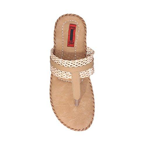 1 WALK COMFORTABLE DOCTOR SOLE WOMEN-FLATS/SANDALS/FANCY WEAR/PARTY WEAR/ORIGINAL/CASUAL FOOTWEAR-Beige