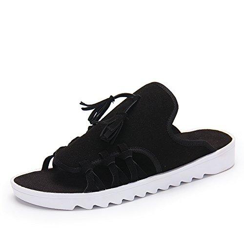 pantoufles hommes d'été/Bascules de vent national/sandales de mode glisser C
