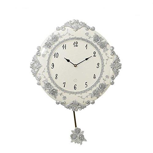 Horloge murale silencieuse - Horloge ronde à piles non-coutil - Facile à lire pour la maison / le bureau / l'école (20 cm de diamètre) , Gold