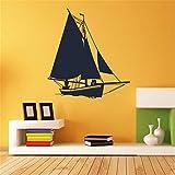 pegatinas de pared y murales Barco de vela para el fondo del sofá de la sala de estar