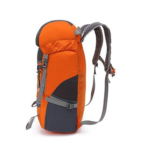 YYY-Pack pelle borsa a tracolla portatile ultra-leggero all'aperto pieghevole alpinismo zaino uomini e donne sport borsa da viaggio , gray Orange