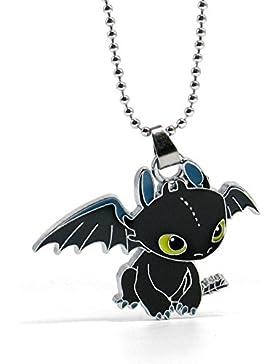 Papapanda Kette für Drache Drachenzähmen leicht gemacht Halskette Ohnezahn Toothless Dragon Necklace