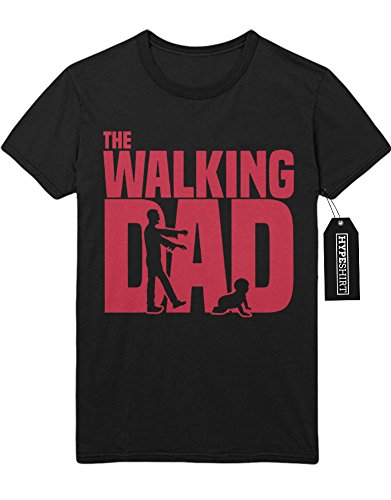 T-Shirt The Walking Dad Catching Baby C978248 Schwarz (Carol Kostüme Baby)