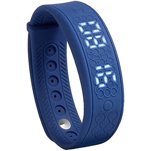 Amlaiworld H5S Smart bracciale,Pedometro 3D & Dormire Tracker & Fitness Tracker (blu) - Quadrante Blu Unisex