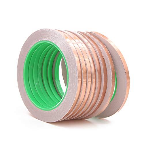 8 cintas de lámina de cobre, adhesivo conductor de doble cara para...