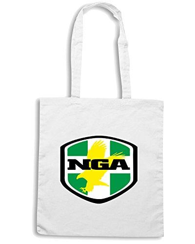 T-Shirtshock - Borsa Shopping WC0134 NIGERIA Bianco