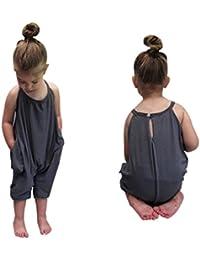 Mamelucos del bebé niñas correas, Koly niños monos pieza pantalones ropa