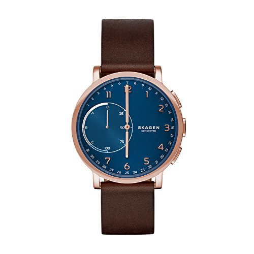 Montre Connectée SKAGEN CONNECTED en Cuir Marron - Homme - 42 mm