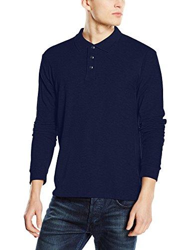 Stedman Apparel Herren Poloshirt Polo Long Sleeve/St3400 Blau - Marineblau