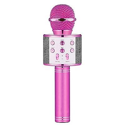 DEDY Wireless Bluetooth Karaoke Microphone Portable Handheld