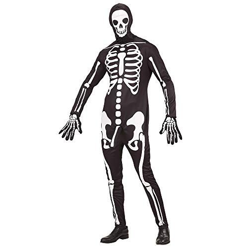 Widmann 03693 Erwachsenenkostüm Skelett, Herren, Schwarz, L