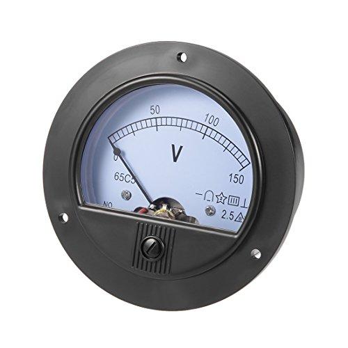 sourcing map DC 0-150V Analog Platte Spannungsmesser Voltmeter 65C5 2,5% Fehler Marge DE de -