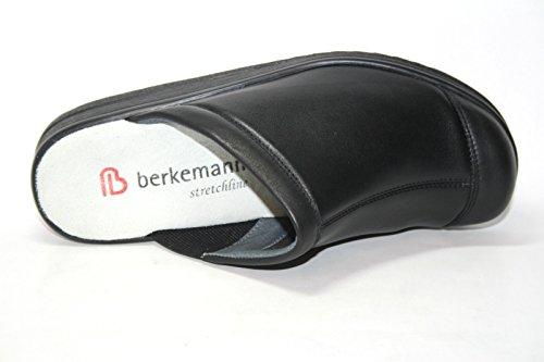 Berkemann, Zoccoli donna Nero nero Nero (Schwarz (schwarz 906))