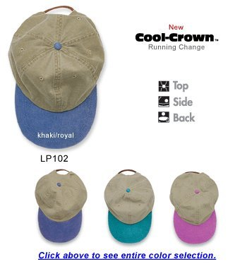 Optimum Pigment-Dyed Cap KHAKI/ ROYAL OS -