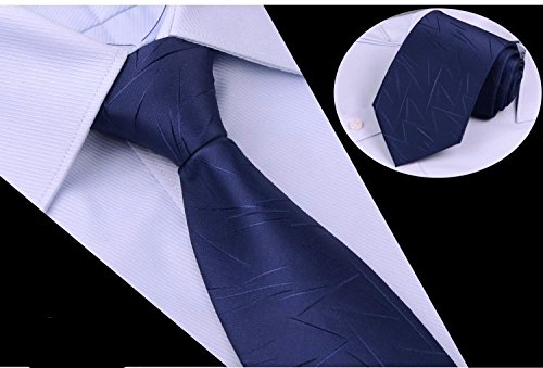 GENTLEE TIE Der Black Tie Männer Anzüge von Blue Stripe Männer krawatte Bräutigam Hochzeit lila Stickmuster 8 CM, blau (Stripe Herren Anzug Wolle)