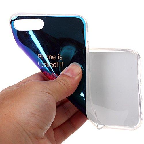 Cover iphone 8 plus / 7 plus, Custodia iphone 8 plus / 7 plus, Alfort Cover Protettiva Premium TPU di alta qualità Flip Case Cover per iphone 8 plus / 7 plus 5.5 Smartphone Colorato Cristallo Traspar Labbra