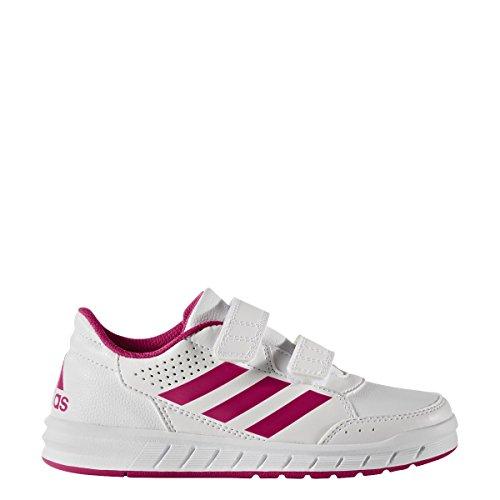 adidas Unisex-Kinder Altasport Cf Laufschuhe blanc/rose vif/blanc