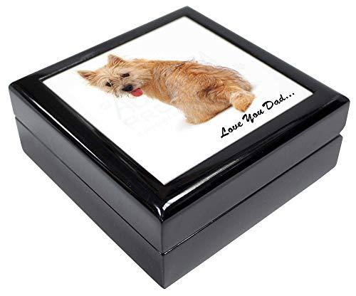 Advanta - Jewellery Boxes Cairn Terrier Hund 'Love You Dad' Andenken/Schmuck Box Weihnachten Geschenk -