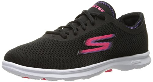 Skechers Damen Go Step Sneaker Sportivo Nero / Bianco / Rosa