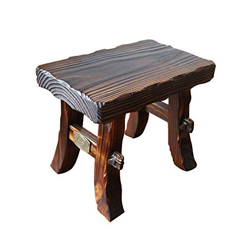 LifeX Antiker quadratischer Fußschemel Erwachsener Chinese Fir-Änderungs-Schuh-Bank-Flugzeug-Bank-Sofa-Schemel-Kinderrechteck-Sitz-Ausgangsspeisehocker-Umkleide-Stuhl, Einsteckschloss und Zapfen-Kunst (Rosa Antiker Stuhl)