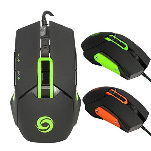 Preisvergleich Produktbild Sansee Optische einstellbare 7D-Taste Wired Gaming Spiel Mäuse für Laptop PC Geeignet für alle Arten von Spielen (K030 3200DPI) (K030, Grün)