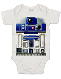 IiE, Cute R2 Robot design, Baby Boy, Short Sleeve Bodysuit