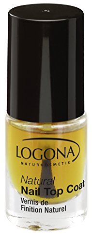LOGONA Naturkosmetik Natural Nail Top Coat, Überlack für Nagellacke, Natürliche Inhaltsstoffe, 4ml