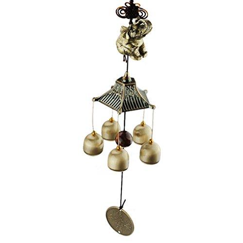 BAO CORE tradizionale in metallo Campanelle a vento in bronzo, Fortune and Good Luck a campana a vento, per interni ed esterni, motivo: chiesa cantiere decorazione per la casa ^decorazione ^elefante Zucca bottiglia Elefante