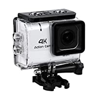 NEW Updated Waterproof Action Cameras, 1.8 Ince 4K Sports Mini Action Waterproof Bike Motion Detection Camera DVR, for Underwater Photography over 30 Meters by Souqgreen