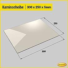 Kaminscheibe Kaminglas Ofenglas plan - 300 mm x 250 mm x 4 mm (5 mm)