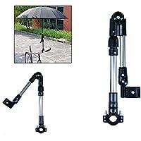 philna12bicicleta silla de ruedas Stroller conector bicicleta paraguas soporte para pantalla plana soporte (negro)