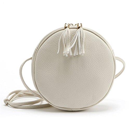 Candy Farben Macarons Biscuit Frauen Taschen Rund Messenger Bag Crossbody Taschen, Damen, Beige -
