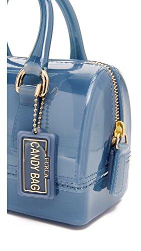 FURLA  Candy Sweetie Mini Satchel, Sacoche femme Blue (Dolomia)
