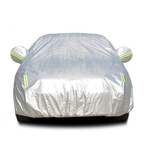 Zhimeio Autoabdeckung Wasserdicht Regen Staub Sonne UV Allwetter Wasserdichter Schutz mit Baumwollreißverschluss for Automobile Indoor Outdoor Fit Audi (Size : Fit A3 Hatchback)