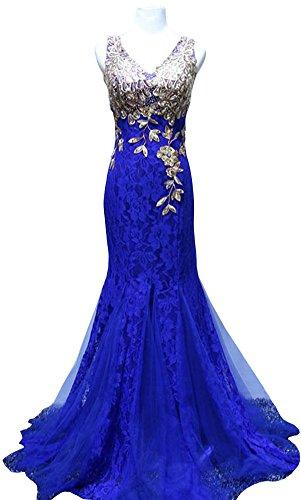 Drasawee - Robe - Cocktail - Femme Bleu - Blau - Königsblau