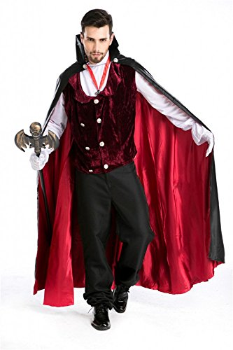 8-teiliges Super Deluxe HERREN Kostüm Gothic Vampire - Gr. M/L