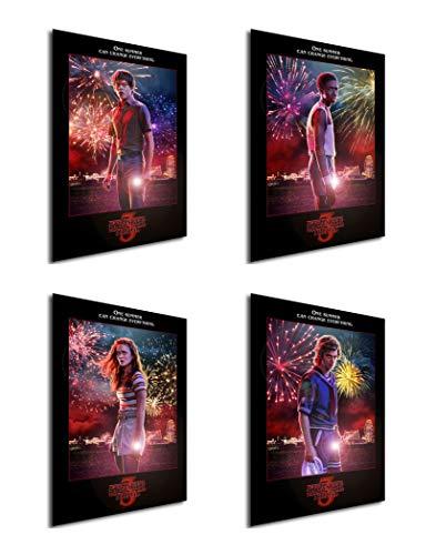 Instabuy Set von 4 Mini-Poster Stranger Things 3 02 - Mini-poster