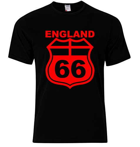RISKYT Vintage Copa Mundial Classic Football World Cup Retro England Route 66 T Shirt