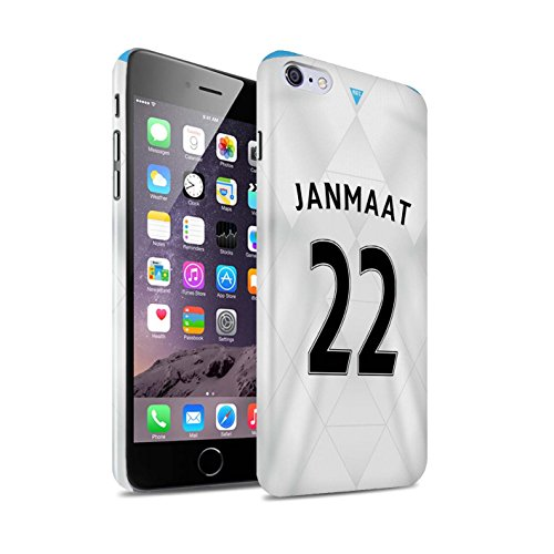 Offiziell Newcastle United FC Hülle / Glanz Snap-On Case für Apple iPhone 6+/Plus 5.5 / Pack 29pcs Muster / NUFC Trikot Away 15/16 Kollektion Janmaat
