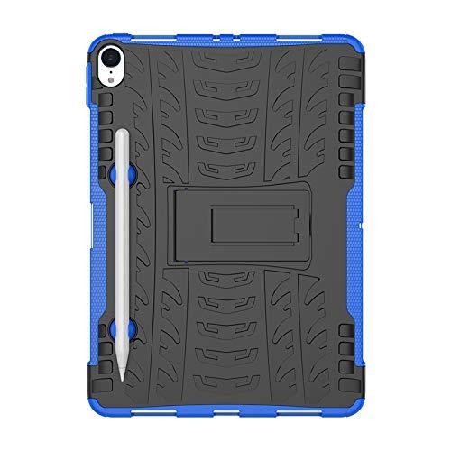 COVO® Apple iPad Pro (11 Inch)-Hülle Tough Hybrid Armor Case,Diese Handyhülle Anti-Wrestling Travel Essential Faltbare Halterung für Apple iPad Pro (11 Inch)(Blau) (Ipad Travel Lautsprecher)