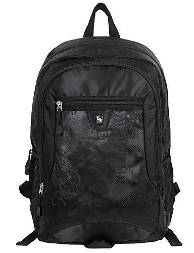ZQ OIWAS Outdoor Aktivitäten Doppelter Schultergurt Rucksack Tasche schwarz - schwarz